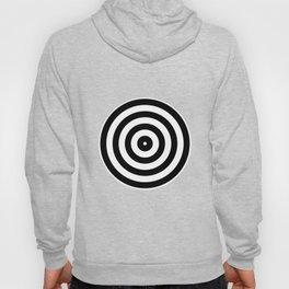 Retro Black White Circles Op Art Hoody