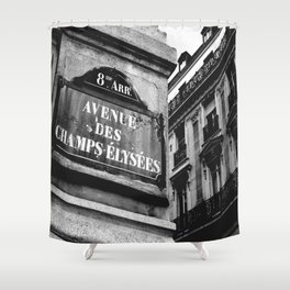 Champs Elysees Shower Curtain