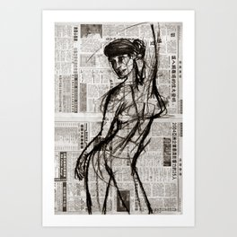 Dance Routine Art Print