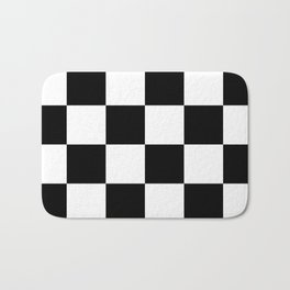 Large Checkered - White and Black Bath Mat