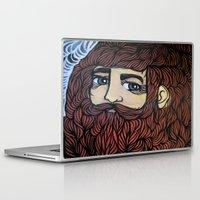 beard Laptop & iPad Skins featuring beard by Deerabigale