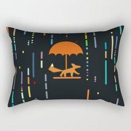 Rain Fox Rectangular Pillow