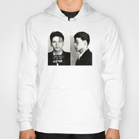 frank sinatra Hoodies featuring Frank Sinatra Mug Shot  by All Surfaces Design