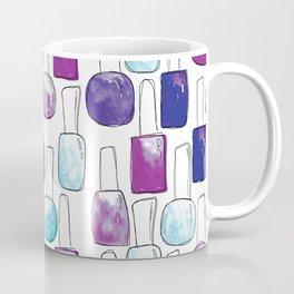 Nail Polish | Blue and Purple Pattern Coffee Mug