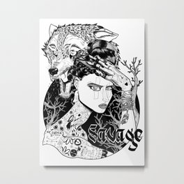 Be one with the wild Metal Print