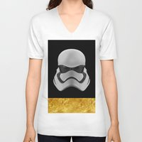 storm trooper V-neck T-shirts featuring Storm trooper by berd.