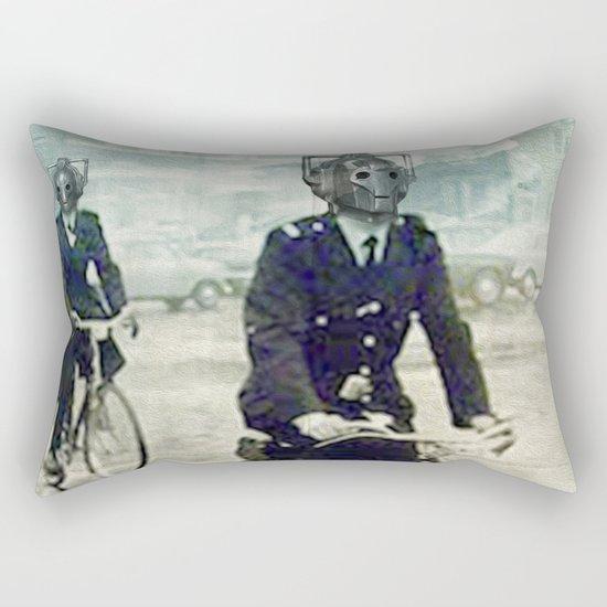 Cybermen on bikes Rectangular Pillow