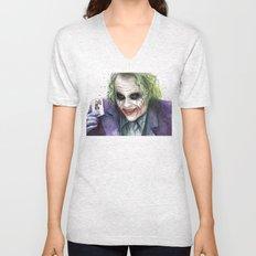 Joker Why So Serious Watercolor Unisex V-Neck