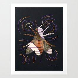 Decline of bees (Déclin des abeilles) Art Print