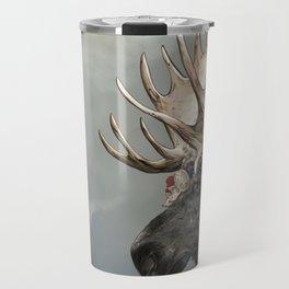 Eerik the Sami Shaman and Hirvi the Moose Travel Mug