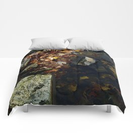 Autumn Colors in the Water Comforters