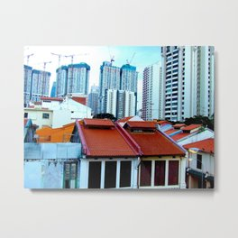 Lines of Singa Metal Print