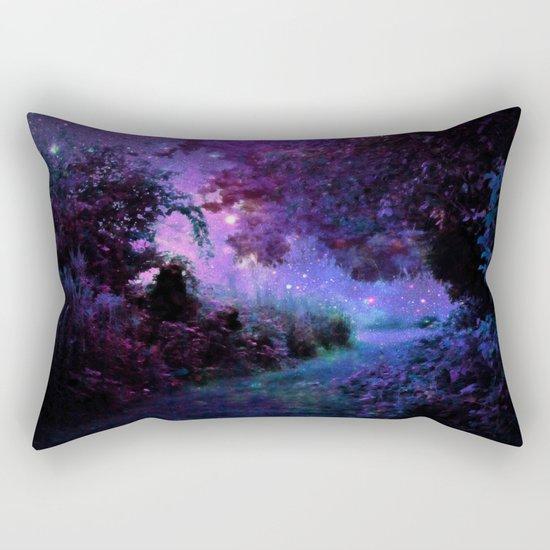 Fantasy Path Purple Rectangular Pillow