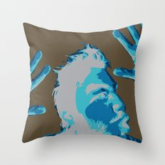 Manprint Throw Pillow