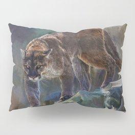 The Mountain King - Cougar Wildlife Art Pillow Sham