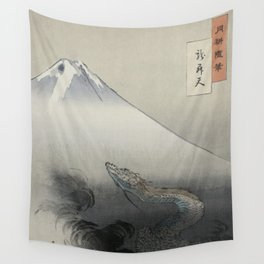 Dragon Rising to the Heavens at Mount Fuji by Ogata Gekko Wall Tapestry