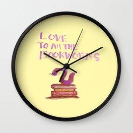bookworm love Wall Clock
