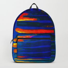 Midnight Blue Lava Lines, Our Earth Burn Marks Backpack