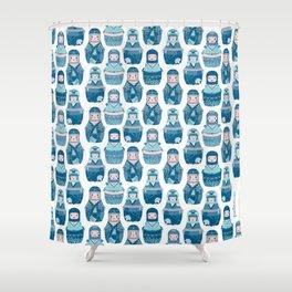 Matrioshkas Pattern Shower Curtain