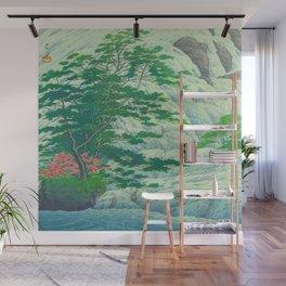Kawase Hasui, Waterfall, Japanese Woodblock Print Ukiyo-e, Shin-hanga, Landscape Wall Mural