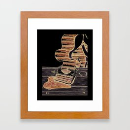 liquid words Framed Art Print