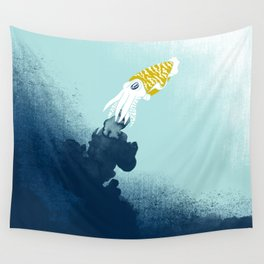 Intelligent Inker - Cranky Cuttlefish Wall Tapestry