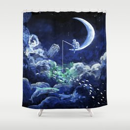 The Doctor Dreaming Of Fishing Shower Curtain