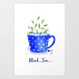 Black Tea in Watercolor Art Print