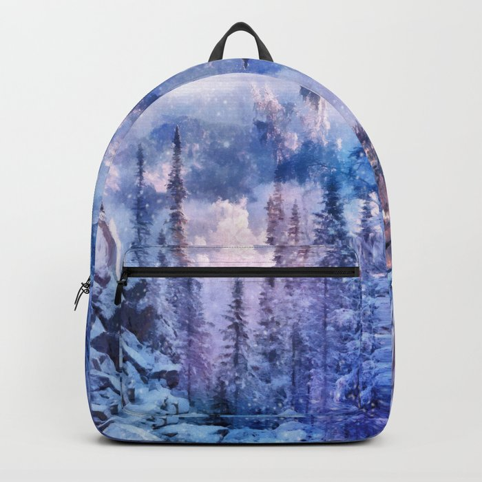 Winter forest in the mountains II Backpack