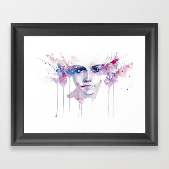 ragazza falena Framed Art Print