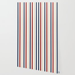 Primarily Pinstripes Wallpaper