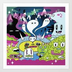 Spooky Spirits  Art Print