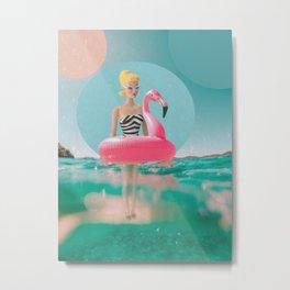 Summer barbie Metal Print