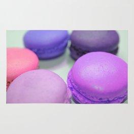 macaroons pink purple peach Rug