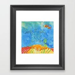 Secret Turtle Framed Art Print