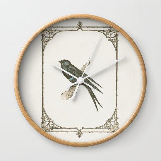 A Victorian Bird Wall Clock
