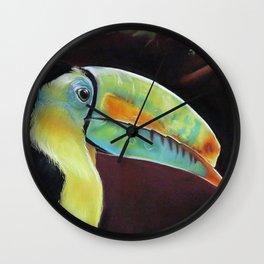 Toco Toucan (Ramphastos Toco) Pastels Artwork Wall Clock