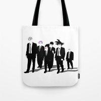 reservoir dogs Tote Bags featuring Reservoir Warriors by ddjvigo