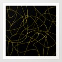 Abstract Threads Gold Dapple by stephobrien