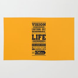 Lab No. 4 Vision Does Usually Dr. Michael Norwood Life Motivational Quotes Rug