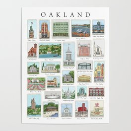 Oakland Landmarks Poster