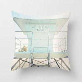Beach Tower Throw Pillow