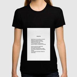 Psalm 100 #minimalism T-shirt