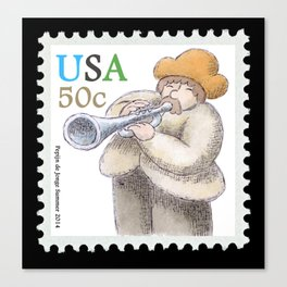 Trumpetplayer-Stamp Canvas Print
