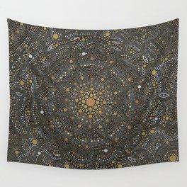 Cosmic Breath - Dot Mandala Wall Tapestry