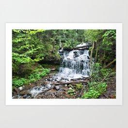 Wagner Falls, Munising, Michigan Art Print