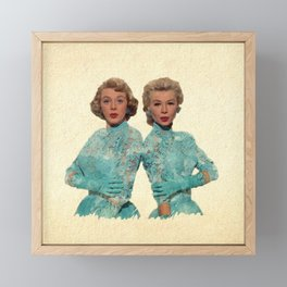 Two Different Faces... (Sisters) Framed Mini Art Print