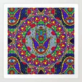 Hamsa Harmony Mandala Art Print