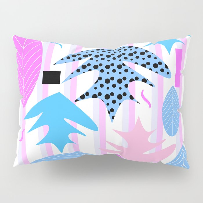 Leaf mix in pink and blue Pillow Sham