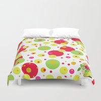 happy birthday Duvet Covers featuring Happy Birthday by Iribú